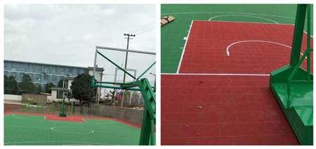 昌宁县湾甸中心小学篮球场